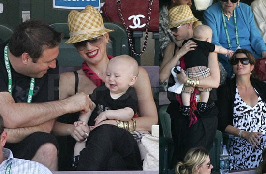 Photos of Gwen Stefani and Zuma Rossdale in Indian Wells