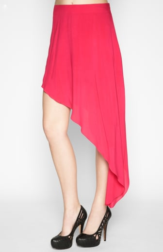 To add a shot of color to your Fall style, get this BCBGMAXAZRIA pink asymmetrical skirt ($39, originally $78).