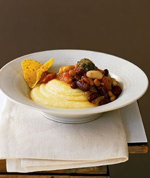 Easy, Healthy Budget Recipe For Vegetable Chili With Polenta