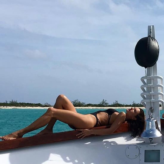 Alessandra Ambrosio Wearing a Monokini in the Bahamas 2016
