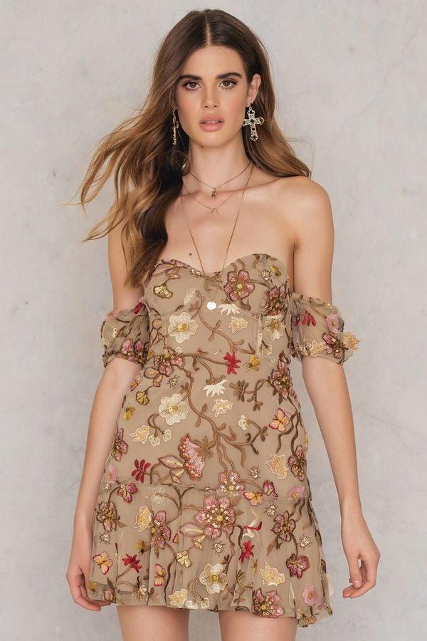 c0d08bf838 For Love & Lemons Botanic Strapless Dress | Stylish TV Show ...