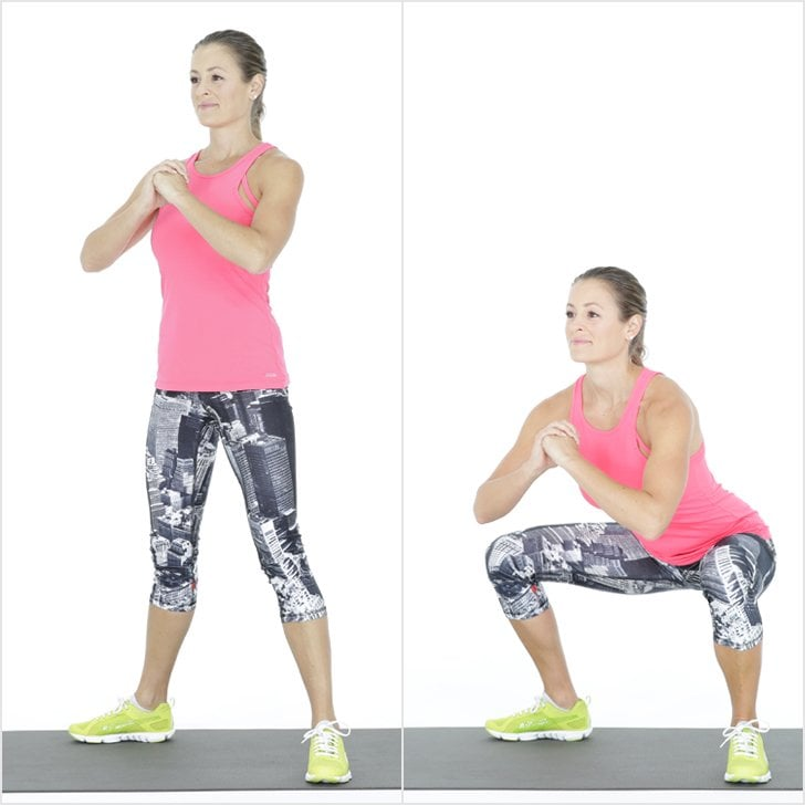Air Squats | Quick Home Workout | POPSUGAR Fitness UK Photo 9