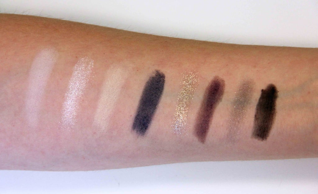Kardashian Beauty Touch Tones Gradient Eye Color Set in Smokin' Hot Swatched on Fair to Light Skin