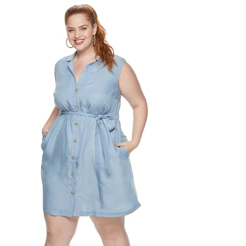 POPSUGAR Plus Size Mini Shirt Dress