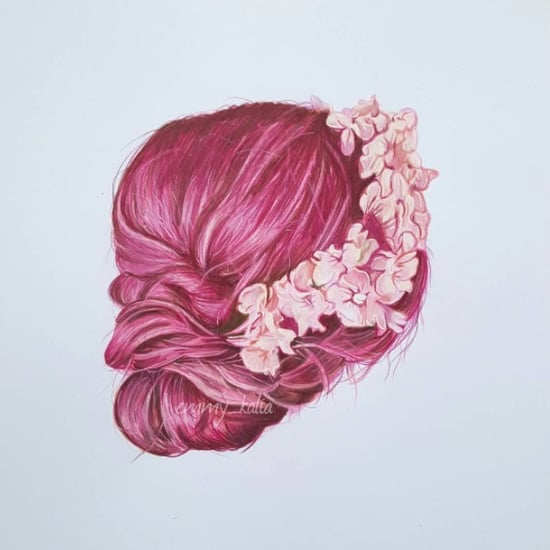 Hair Drawings Emmy Kalia Art
