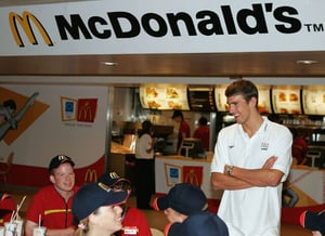 Michael Phelps is Backed by McDonald's