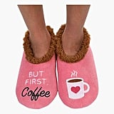 """But First, Coffee"" Slippers"