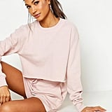 Mix & Match Soft Cropped Loop Back Sweat Set