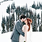 Your dress will look magical on a mountaintop covered in snow.