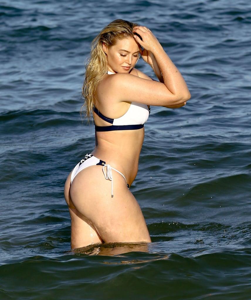Iskra Lawrence In A Bikini On The Beach In Miami July 2016