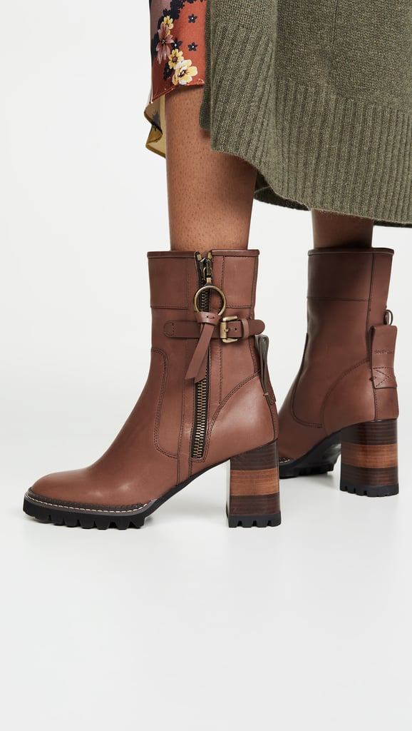 See by Chloe Bryn Equestrian Lug Ankle Boots
