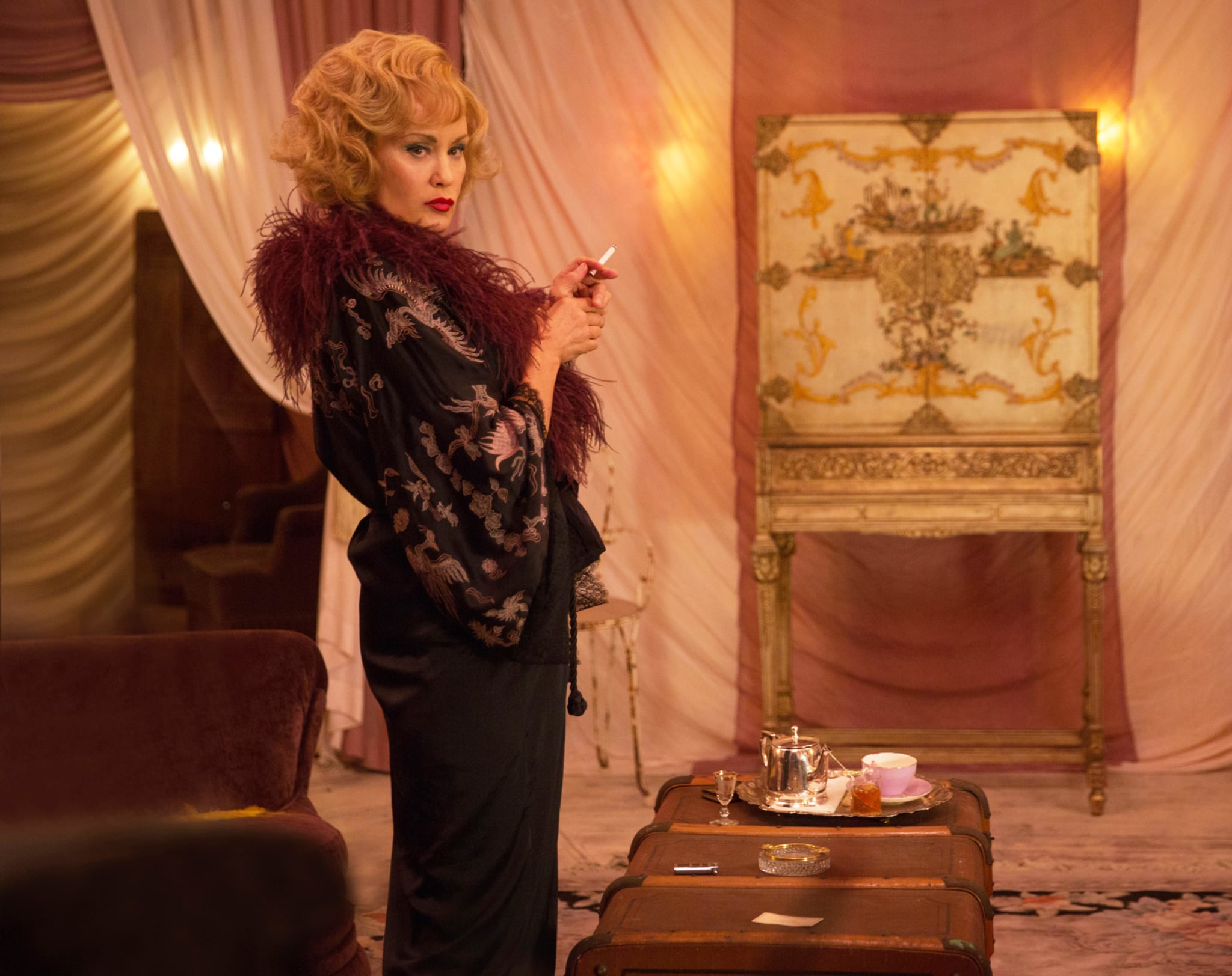 AMERICAN HORROR STORY: FREAK SHOW, Jessica Lange in 'Pink Cupcakes' (Season 4, Episode 5, aired November 5, 2014). ph: Michele K. Short/FX/courtesy Everett Collection