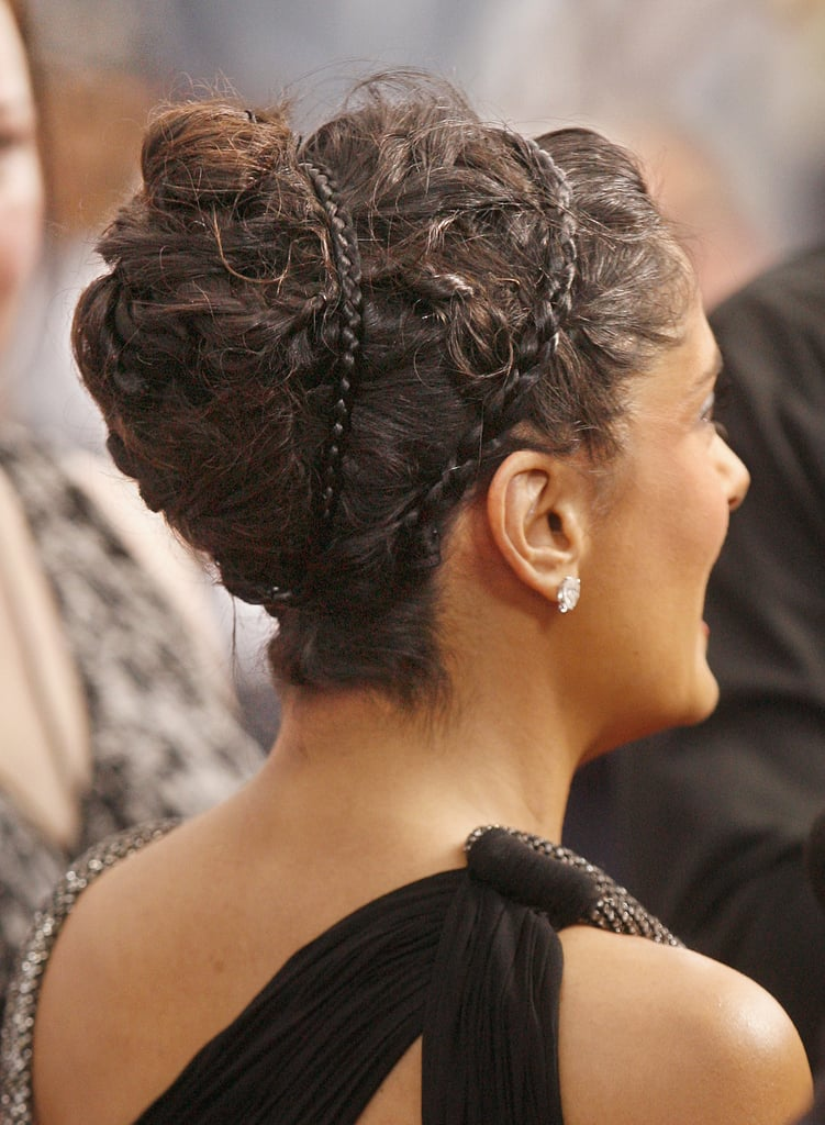 Braided headbands, even if they're not from your own head, are also cute, as Salma Hayek proved at the Grown Ups 2 premiere.