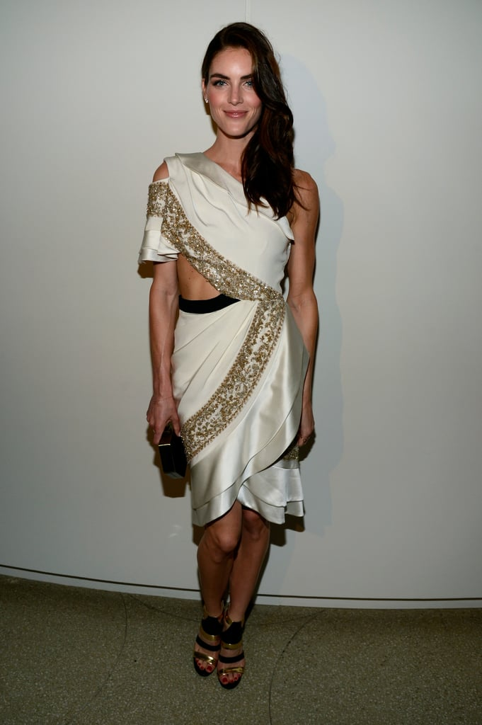 Hilary Rhoda was in attendance at Estée Lauder's party in NYC.