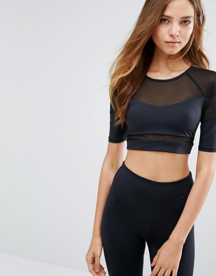 Varley Walgrove Black Sports Crop Top