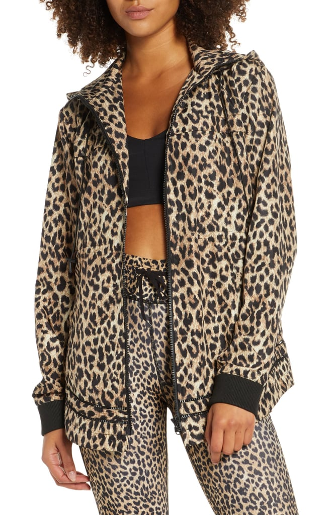 The Upside Leopard Print Ash Water Resistant Hooded Jacket