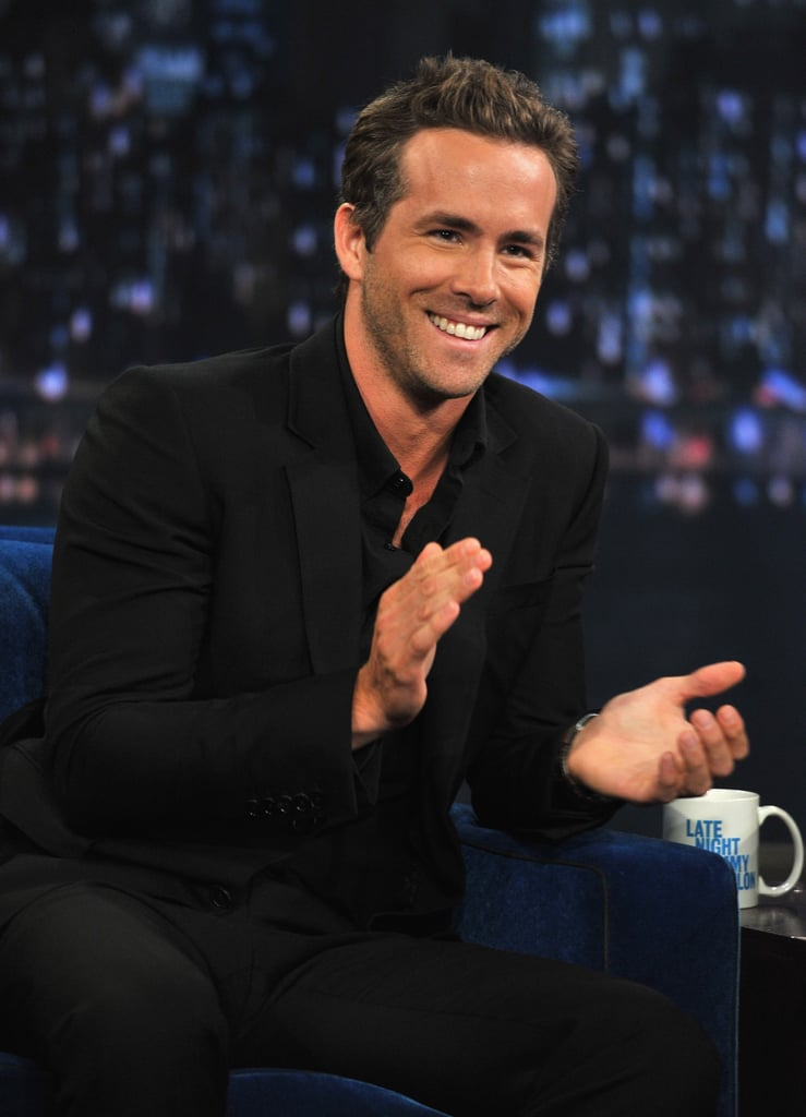 "Ryan Reynolds reminded us why he's the Sexiest Man Alive arriving at NYC's Late Night With Jimmy Fallon studios last night looking hot as ever in a well-tailored suit. Ryan's in the Big Apple promoting The Change-Up prior to today's release of the film — a familiar formula and raunchy potty humor are just some of the faults Buzz discovered in their review of The Change-Up. Ryan's costar Jason Bateman stopped by earlier in the week to chat with Jimmy and re-create a memorable scene from his Teen Wolf Too days. Ryan stuck with recounting stories from his days as a child actor in Canada, though he did share a more recent story about the day he decided to bring his mom to The Change-Up set, which coincidentally happened to be the only day they were shooting his ""lorno,"" aka light porn, scene."