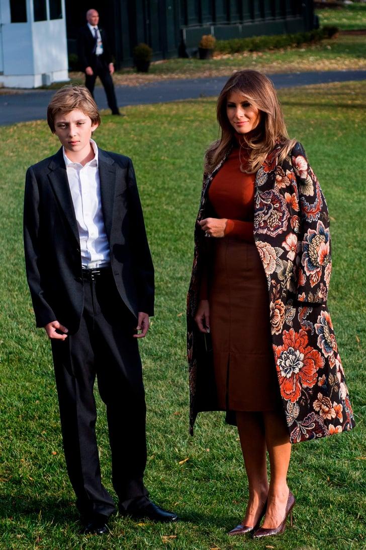 Melania Trump Pardoned Turkeys in a $1,625 Stella McCartney Coat