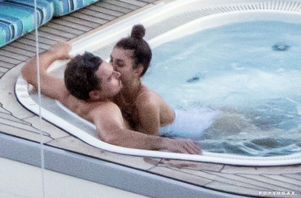 Leonardo DiCaprio and girlfriend Camila Morrone are heating up Positano, Italy, with their PDA. On Thursday, the 44-year-old actor and 22-year-old model were spotted sharing a few kisses and cuddling as they relaxed in a hot tub on a yacht. While Leo donned a pair of black swim trucks, his girlfriend sported a sexy white one-piece. At one point, Camila stopped to take in the views as she snapped a photo of Leo with her phone.  The actor's relaxing getaway comes after a few busy weeks of press for his new film, Once Upon a Time in Hollywood. In addition to giving cute interviews about his time on Growing Pains and that infamous door scene from Titanic, he also gave us a glimpse of his friendship with fellow heartthrob Brad Pitt. Keep scrolling for more pictures of his Italian getaway with Camila.       Related:                                                                                                           A Not-So-Brief History of All the Ladies Leonardo DiCaprio Has Dated