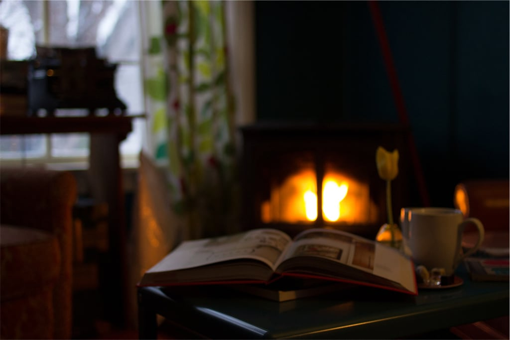 Cozy fires and hot chocolate.