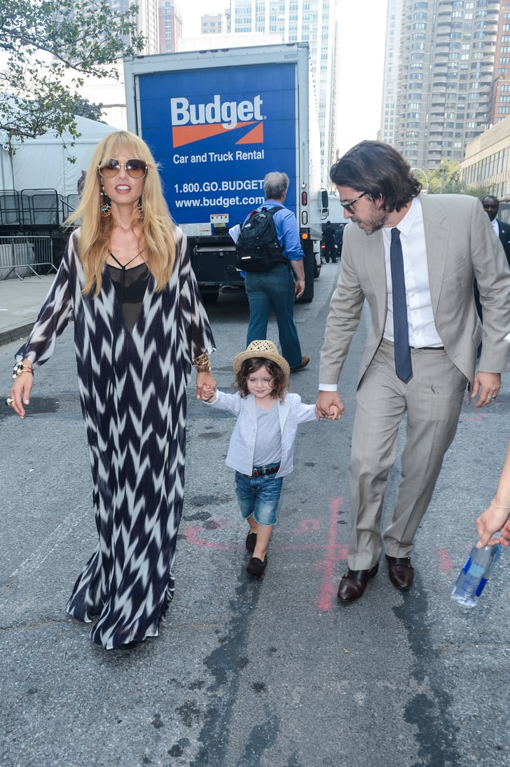 Rachel Zoe, Rodger Berman, and Skyler walked to her fashion show.