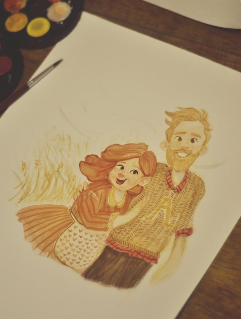 Young Molly and Arthur Weasley