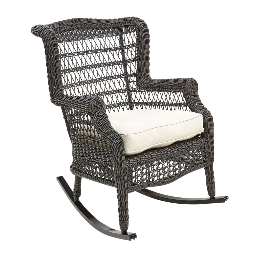 Sunset Pier Distressed Black Rocker