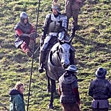 Benedict Cumberbatch Filming The Hollow Crown