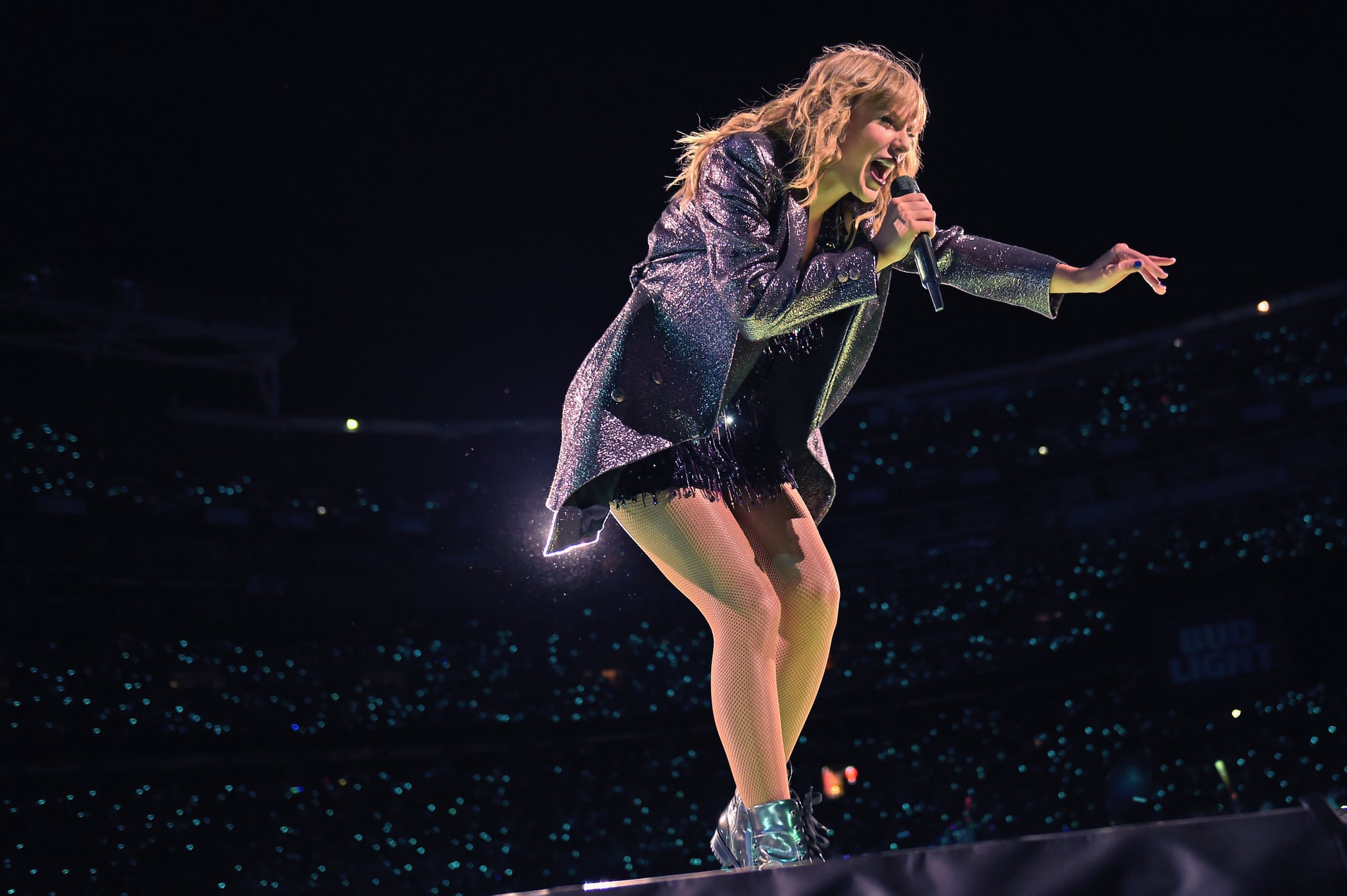 LANDOVER, MD - JULY 11:  Taylor Swift performs onstage during the Taylor Swift reputation Stadium Tour at FedExField on July 11, 2018 in Landover, Maryland.  (Photo by Jason Kempin/TAS18/Getty Images)