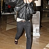 Ryan Gosling goes incognito at LAX.
