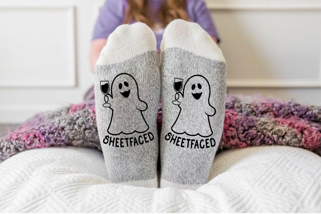 Sheetfaced Funny Halloween Socks