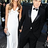 George Clooney and Stacy Keibler arrived at the Critics' Choice Movie Awards.