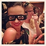 Miranda Kerr wore 3D glasses for a screening of The Great Gatsby in NYC. Source: Instagram user MirandaKerr