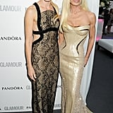 Naomi Watts and Donatella Versace