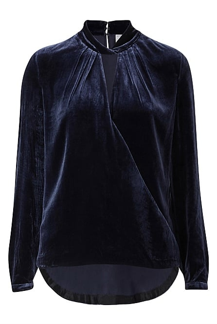 Velvet Cross Over Blouse, $169.95