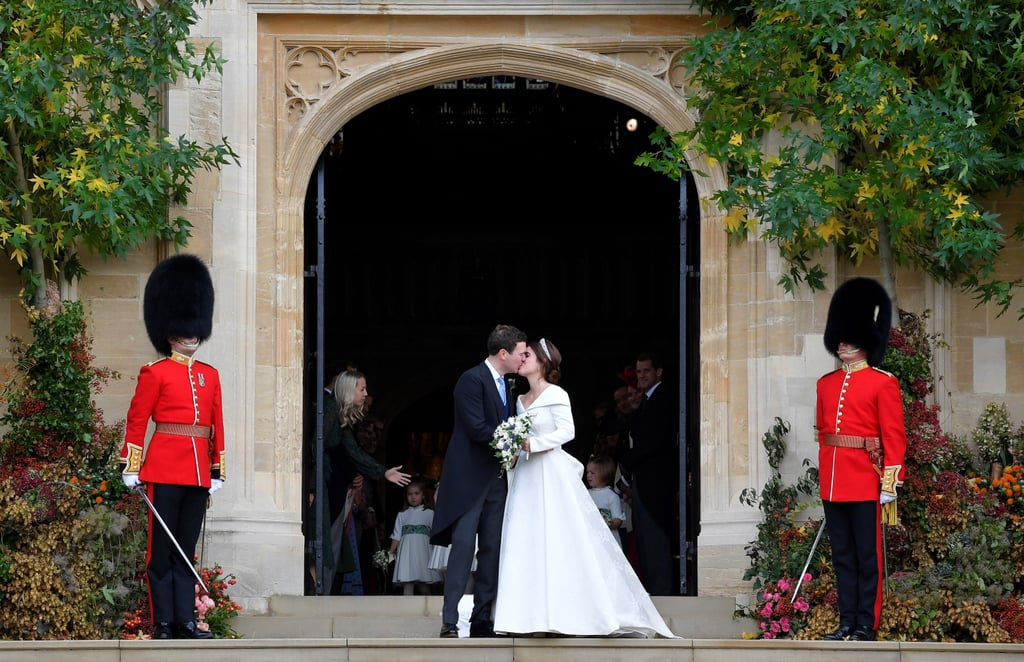 """Princess Eugenie and Jack Brooksbank are celebrating a year of marriage! On Saturday, Eugenie shared a touching tribute to her beau, posting a never-before-seen video from their wedding. The clip features behind-the-scenes snippets of the 29-year-old princess preparing to walk down the aisle, as well as shots of her and Jack, 33, meeting at the altar, sharing their first kiss as a married couple, and taking a carriage ride together. """"This was the greatest day of my life . . . forever and always!"""" Eugenie captioned the video. """"Happy one year anniversary, my Jack!!""""              View this post on Instagram                      A post shared by Princess Eugenie (@princesseugenie) on Oct 12, 2019 at 1:16am PDT   Eugenie and Jack — who met nearly a decade ago during a ski trip in Verbier, Switzerland — tied the knot on Oct. 12, 2018, at Windsor Castle's St. George's Chapel (the same venue as Prince Harry and Meghan Markle's wedding). Since then, the duo have made a few adorable appearances as husband and wife, including the royal family's Christmas church outing in December 2018 and a special visit to London's Royal National Orthopaedic Hospital in March. Eugenie even shared their first Instagram selfie in May to celebrate her hubby's birthday. We're looking forward to seeing more sweet moments between the two.      Related:                                                                                                           You Only Have to Take One Look at Princess Eugenie and Jack Brooksbank to Feel the Love"""