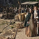 Claire (Caitriona Balfe) and Jamie (Sam Heughan) leave Scotland behind this season.