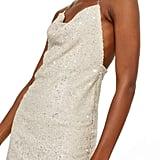 Topshop Brushed Sequin Cowl Neck Dress