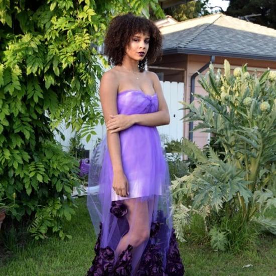 Purple Prom Dress Teen Made Herself