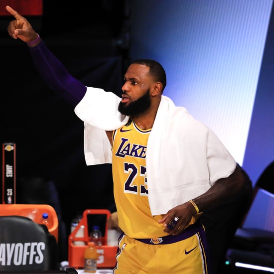 Watch LeBron James's Impressive Seated 3-Pointer Shot