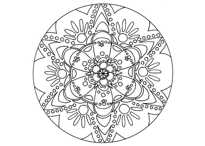 Get the coloring page: Mandala