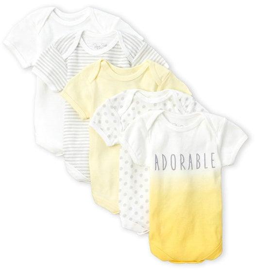 Rene Rofe Newborn 5-Pack Baby Onesies ($20)