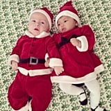 Lil Finn McDermott found a Mrs. Claus to celebrate the holiday with over Christmas! Source: Instagram user torianddean