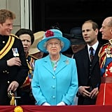 Not many would get away with totally ignoring the queen to have their own moment — at Trooping the Colour in 2009.