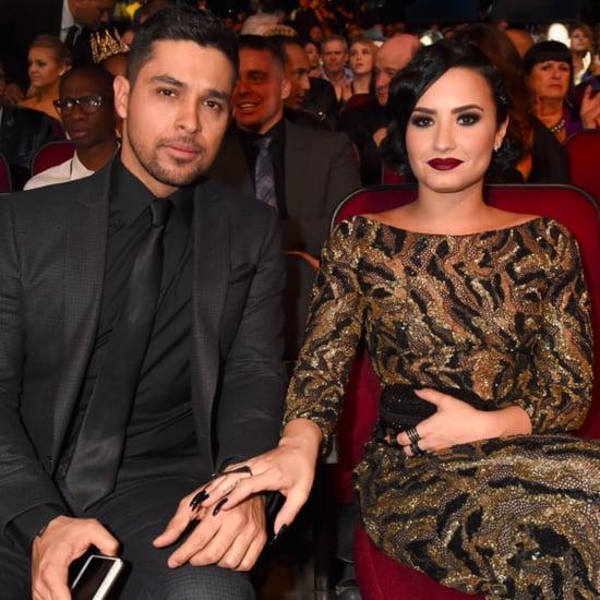 Demi Lovato and Wilmer Valderrama at the 2015 AMAs