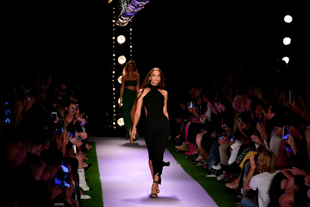 Irina Shayk on the Brandon Maxwell Runway at New York Fashion Week