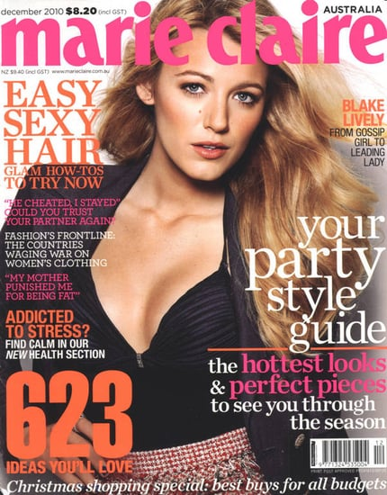Blake Lively covers Marie Claire Australia-december 2010