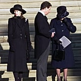On the day of Margaret's funeral in 2002, the normally stoic Queen Elizabeth was spotted wiping away tears as she stood outside St. George's Chapel with Margaret's two children, David and Sarah Linley.