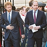In March 2016, William and Harry attended a celebration for the Queen's 90th birthday looking as handsome as ever.