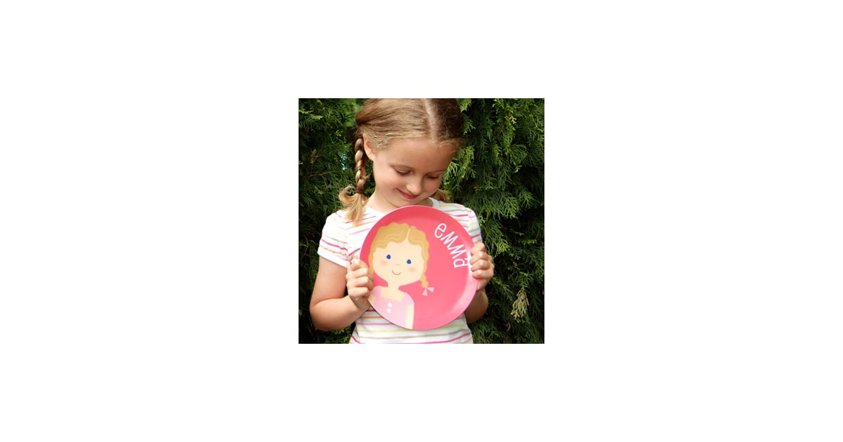 Sarah Abraham Olliegraphic Plate Personalized Dishes For Kids